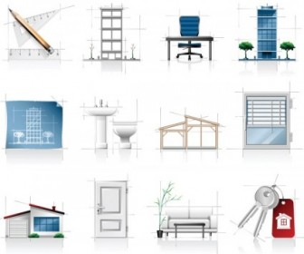 Interior Architectural Sketches Icon Vector Icon Vector Graphics