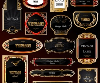 European Gorgeous Label Vector Vector Art