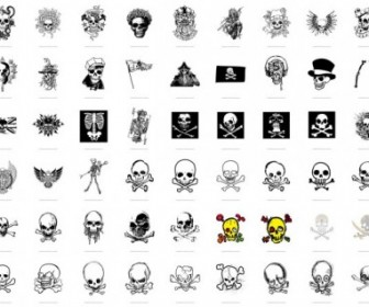 Trend Vector Series 1 Skull And Crossbones 54 Vector Art