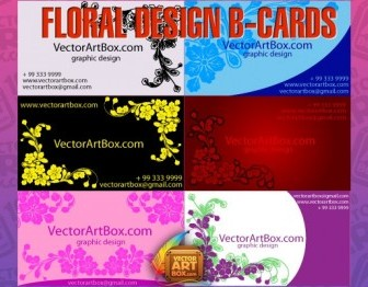 Floral Design Bcards Floral Vector Art