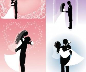People Wedding Silhouette Vector People Vector Art