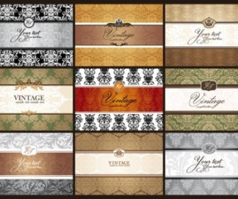 Classic Pattern Cards Background 01 Vector Background Vector Art
