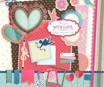 Valentine Labels Vector Heart Vector Art