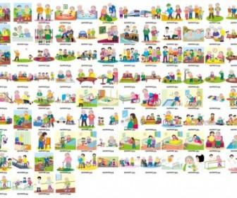 Vector 100 Elderly People Living People Vector Art