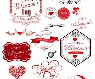 Valentine Day Label Heart Vector Art