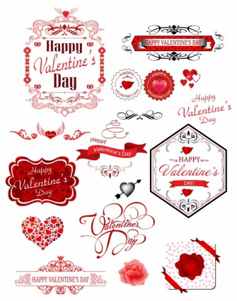 Valentine Day Label Heart Vector Art  Ai Svg Eps Vector Free Download