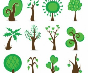 Tree Symbols Vector Graphic Vector Art