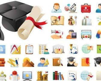 Education & Science 45 Icons Sets Icon Vector Graphics