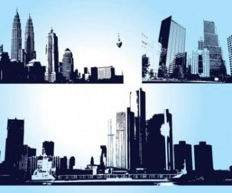 Skyscraper City Graphics Vector Art