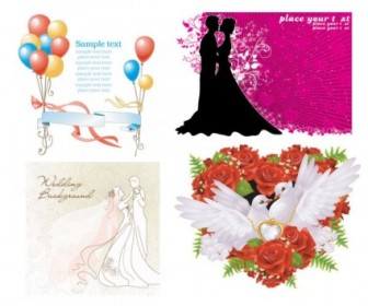 Wedding Theme Vector Vector Art