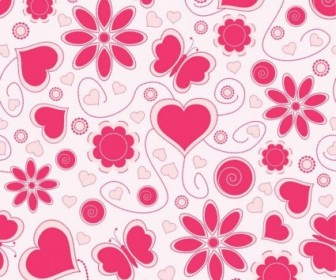 Vector Love Pattern Background Pattern Vector Art