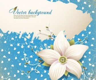 Beautiful Flowers Vector Background Background Vector Art