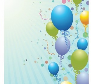 Balloons Design Background Background Vector Art