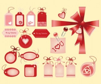 Valentine Love Tags Heart Vector Art