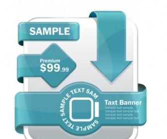 Set Of Web Label Element 5 Set Web Design Vector Graphics