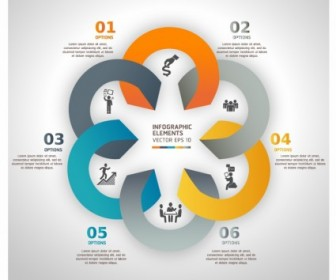 Modern Business Circle Origami Style Options Banner Vector Art