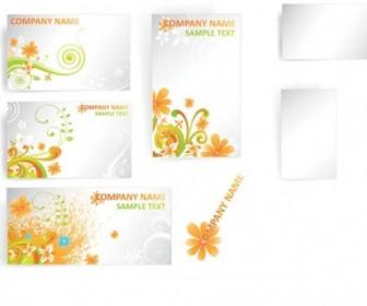 Flower Card Template Vector Pattern Flower Vector Art