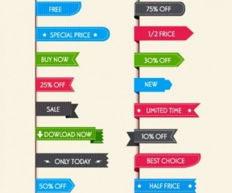 Sale Labels For Web Web Design Vector Graphics