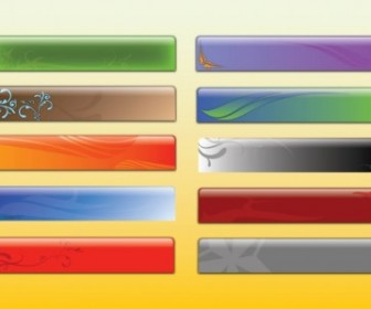 Glossy Banner Graphics Vector Banner