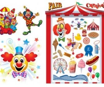 Clowns U0026amp Carnival Vector Vector Art