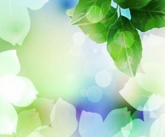 Beautiful Green Leaf Background Vector Illustration Background Vector Art