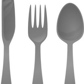 Moself Cutlery Clip Art Vector Clip Art