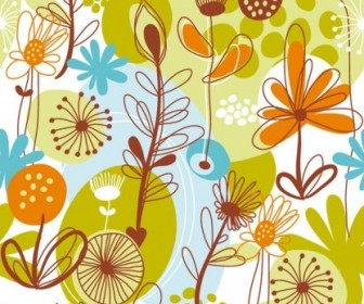Floral Seamless Pattern Flower Vector Art