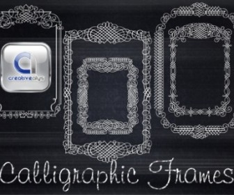 5 Calligraphic Vector Frames Vector Art