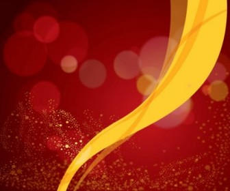 Red Background Vector Yellow Ribbon Background Vector Art
