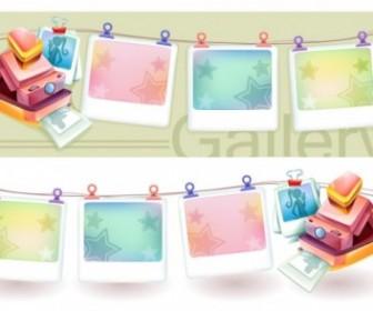 Dream Polaroid Camera And Photo Frame Vector Vector Art