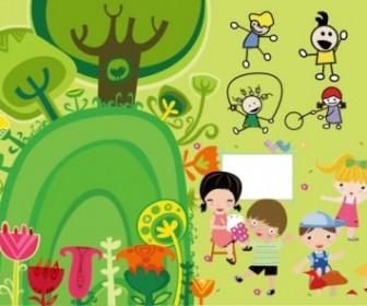 Children Illustrator Vector Cute Vector Art