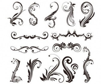 Ornament Design Elements Vector Set Vector Art