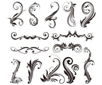 Ornament Design Elements Vector Set Vector Art