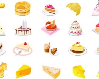 Cheese Cake Dessert Vector Vector Art