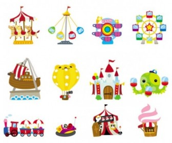Cute Cartoon Icon Playground 03 Vector Icon Vector Graphics
