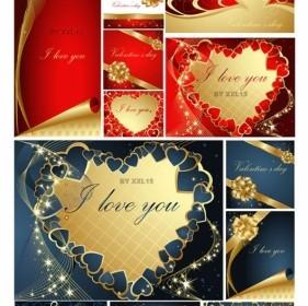 Romantic Valentine Day Greeting Card Vector Heart Vector Art