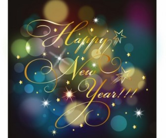 Happy New Year Background Background Vector Art