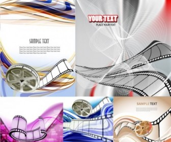 Movie Theme Vector Background Background Vector Art
