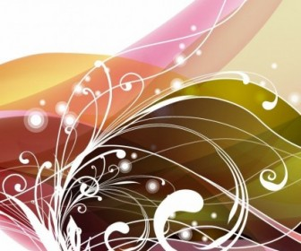 Abstract Floral Background Vector Floral Vector Art