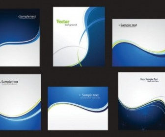 Dynamic Abstract Blue Card 01 Vector Abstract Vector Graphics