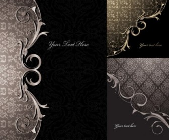 3 Gorgeous European Classical Pattern Vector Pattern Vector Art