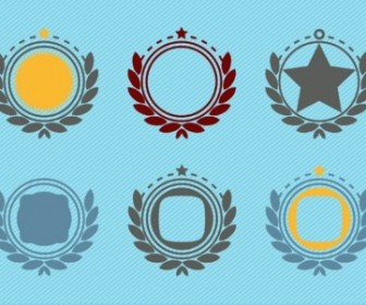 Retro Emblem Badge Decorations Vector Art
