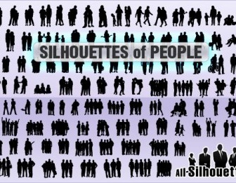 Silhouettes Of People Silhouettes Vector Graphics