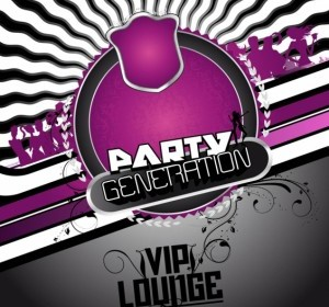 Free Party Flyer Background Background Vector Art