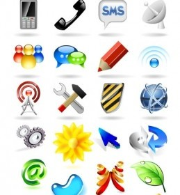 Some Threedimensional Icon Vector Icon Vector Graphics