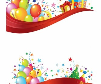 Party Header And Footer Vector Art