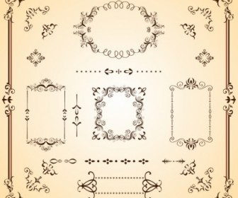 Ornate Borders And Scrolls Floral Vector Art
