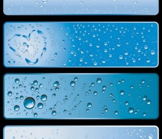 Water Theme Banner Vector Vector Banner