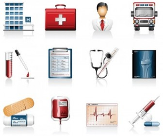 Hospital Icons Vector Icon Vector Graphics