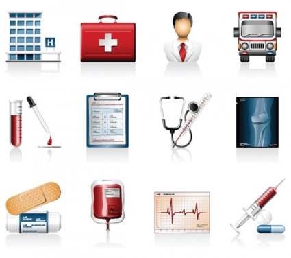Hospital Icons Vector Icon Vector Graphics - Ai, Svg, Eps Vector ...